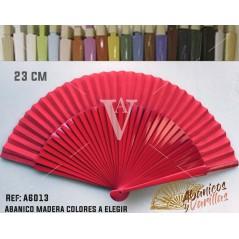 Leque de 23 cm em cores lisas a escolher