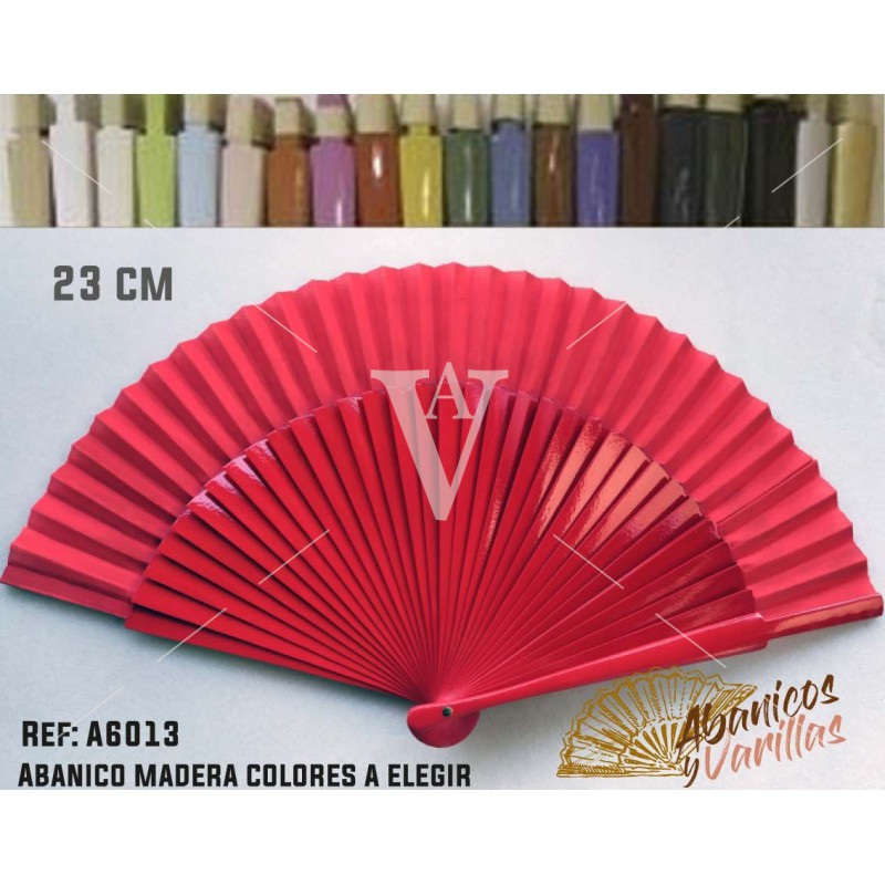 Abanico de 23 cm en colores lisos a elegir