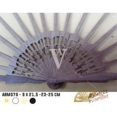 Varilla para Abanico 9 x 21,5 - 23 - 25 cm Madera Sipo