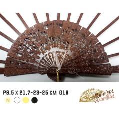 Varetas para leques de madeira de pêra de 9.5 x 21,7 - 23 - 25 cm Modelo G18