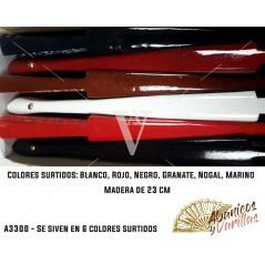Cores surtidos: Blanco, Rojo, Azul Marino, Negro, Nogal y Granate