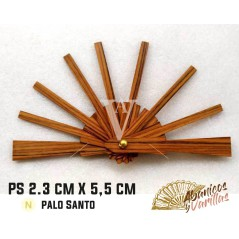 Mini vareta para leques de 2,6 x 5,5 cm em pau santo