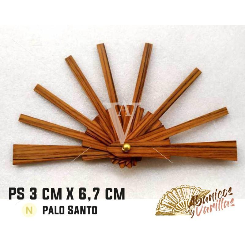 Varilla de abanico de 3 x 6,7 cm en palo santo