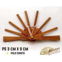 Varilla para abanico de 3 x 9 cm en palo santo