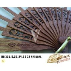 Vareta para leques de 9 x 21,5 cm C2 Natural