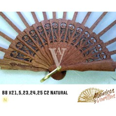Vareta para leques de 8 x 21,5 cm C2 Natural