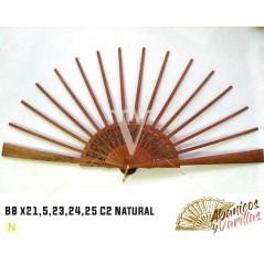 Varilla para abanicos de 8 x 21,5 cm C2 Natural