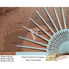 Padrão para Leque 01-10 x 21-21.5 cm