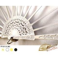 Varilla Blanca calada de peral para Abanico de 7 X17,21.5 cm G1
