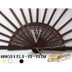 Varilla Abanico Madera Wengue 10 x 21,5 23 25 cm