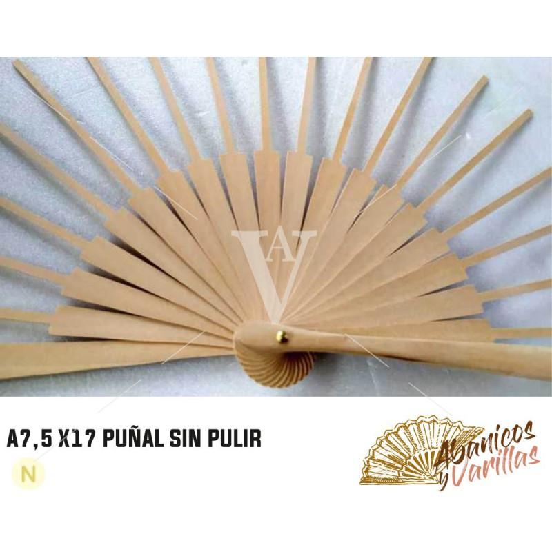 Varilla Puñal de abedul sin pulir 7,5 cm x 17 cm