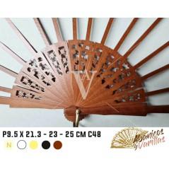 Varillas para abanicos 9,5 semi-circulo C48