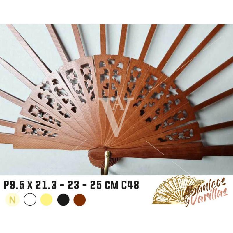 Varetas para leques de 9,5 semi-circulo C48