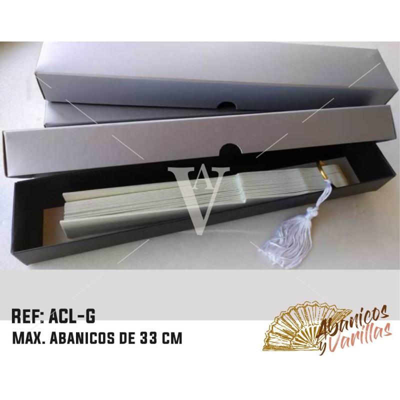 Caixa prata para Leques 33 cm mate