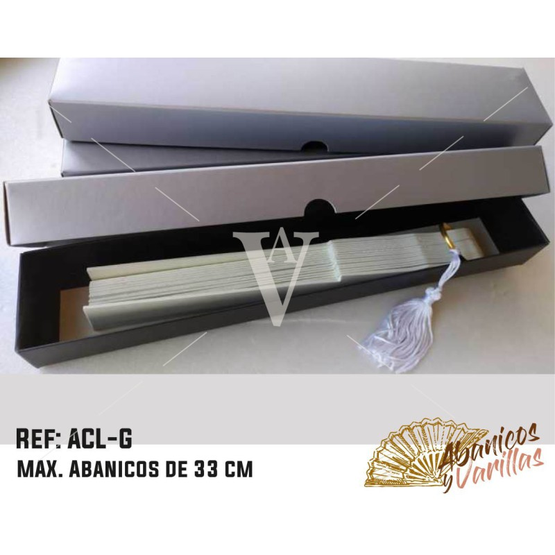 Plata para Abanicos 33 cm plata mate
