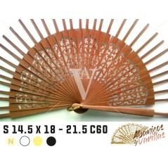 Varilla para abanicos artesanal de madera de SIPO en 14,5 cm de semi-circulo