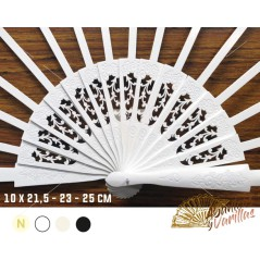 Varilla madera Blanca SIPO de 10 x 21,5 - 23 - 25 cm