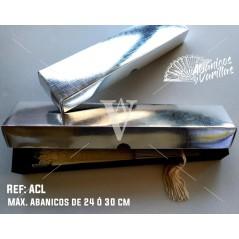 Caja plata para abanicos. Capacidad maxima 24 cm ó 30 cm