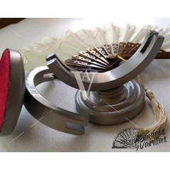 Suporte prata para leques de 19 a 27 cm