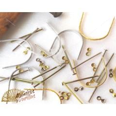 Anilhas para Leques em Dourado e lisas ou esculpidas