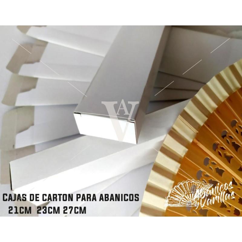 Caja de cartón para Abanicos de 21, 23 y 27 cm