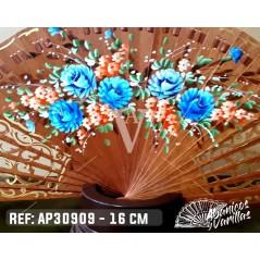 Leque Baralha 16 cm - Floral