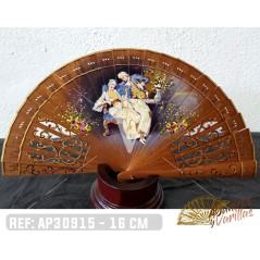 Leque Baralha 16 cm Madera Sipo, pintado à mão
