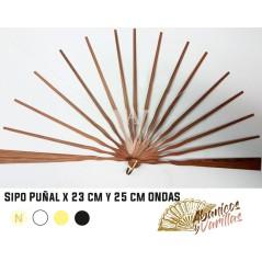 Varilla para abanicos de madera Africana Sipo de 23 - 25 cm