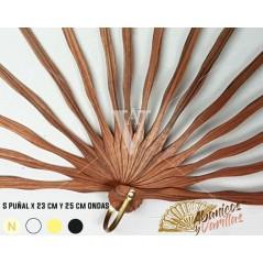 Vareta para leque de madeira Africana Sipo de 23 - 25 cm