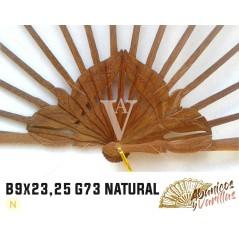 Varetas para leque de madeira africana bubinga | danta de 9 cm x 23 ou 25 cm