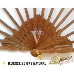 Varillas para abanicos de madera africana bubinga | danta de 10 cm x 23 ou 25 cm