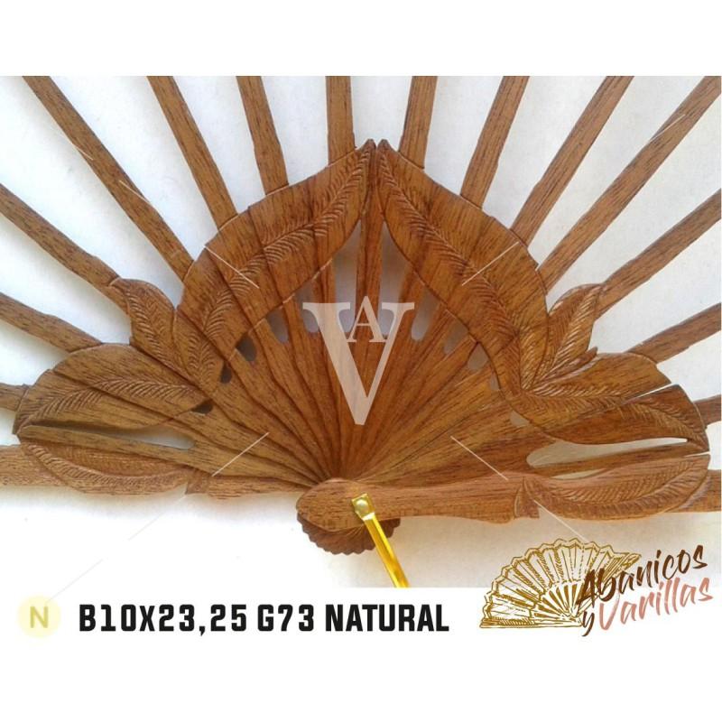 Varetas para leque de madeira africana bubinga | danta de 10 cm x 23 ou 25 cm