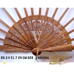 Varillas para Abanicos B9.5 X 21.7 - 24 cm - G26 NATURAL