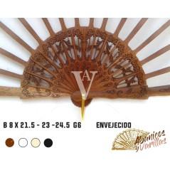 Varillas para abanicos de 8 x 21,5 - 23 24,5 cm