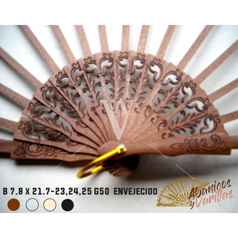 Varilla de Abanicos Madera Bubinga 7,8 x 21,7 cm