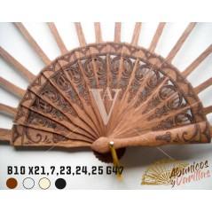 Varillas de abanicos de 10 x 21,7 cm - 23 - 24 - 25 cm G47