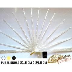 Vareta Anacarina Punhal para leques. 21,5 y 24,5 cm