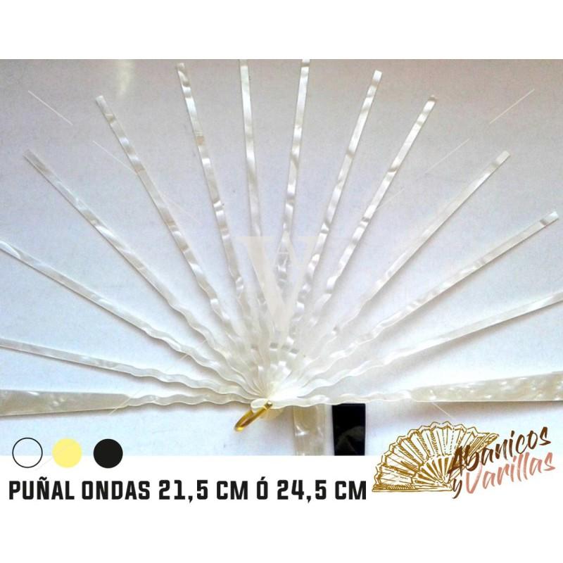 Varilla Nacarina Puñal para abanicos. 21,5 y 24,5 cm