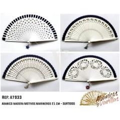 Abanicos de Madera - Motivos Marineros 21 cm - Surtidos