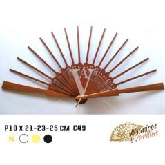 Varilla para Abanicos de madera de peral 10 x 21, 23, 25 cm C49