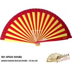 Abanico 23 cm bicolor marca españa para souvenir