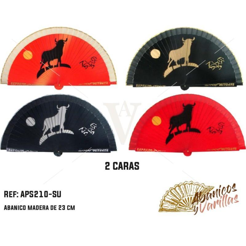Leques sortidos com desenho típico de touro espanhol