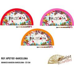 Leques em acrilico barcelona. ideais para souvenir