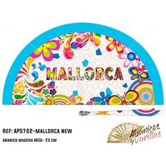 Abanico  en Acrilico pintado con diseños para souvenir Mallorca New
