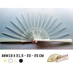 Varilla Madera lacada en Blanco Sipo Africana 10 x 21,5-23-25 cm