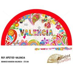 Leque de Madeira Pintado em Acrilico com desenhos para souvenir Valencia New