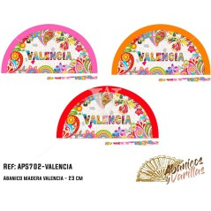 Abanico  en Acrilico pintado con diseños para souvenir Valencia New