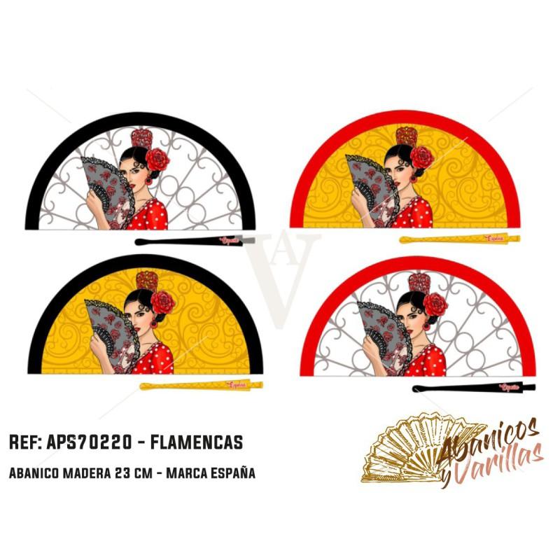 Abanicos pintados con acrilico y diseños de flamencas