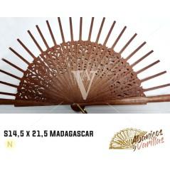 Varetas para leques de 14,5 cm de madeira africana Sipo - Madagascar
