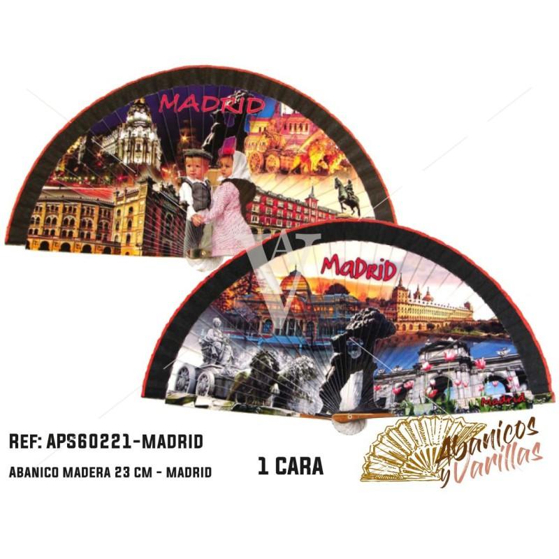 Abanico Acrílico souvenir Madrid - Monumentos
